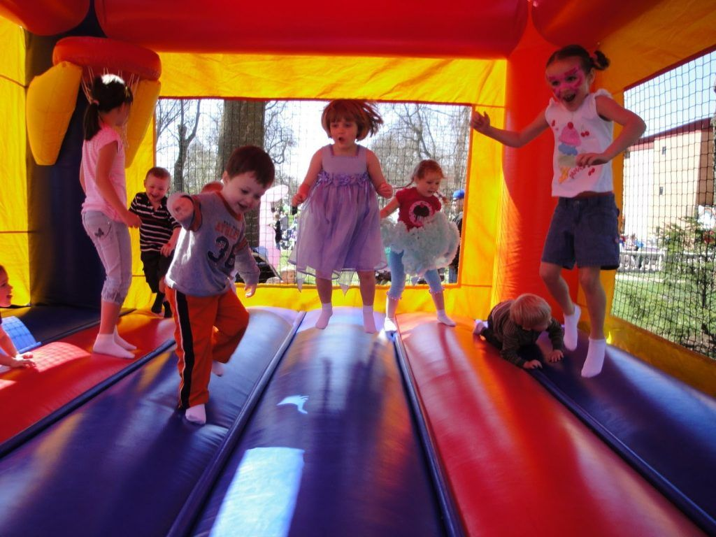 Bounce house party time.