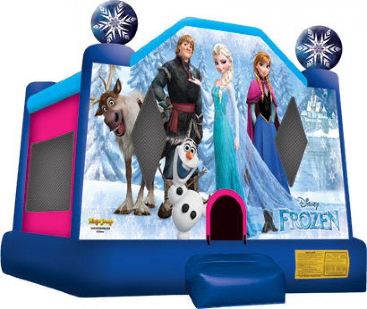 Disney Frozen Bouncer with Basketball Hoop