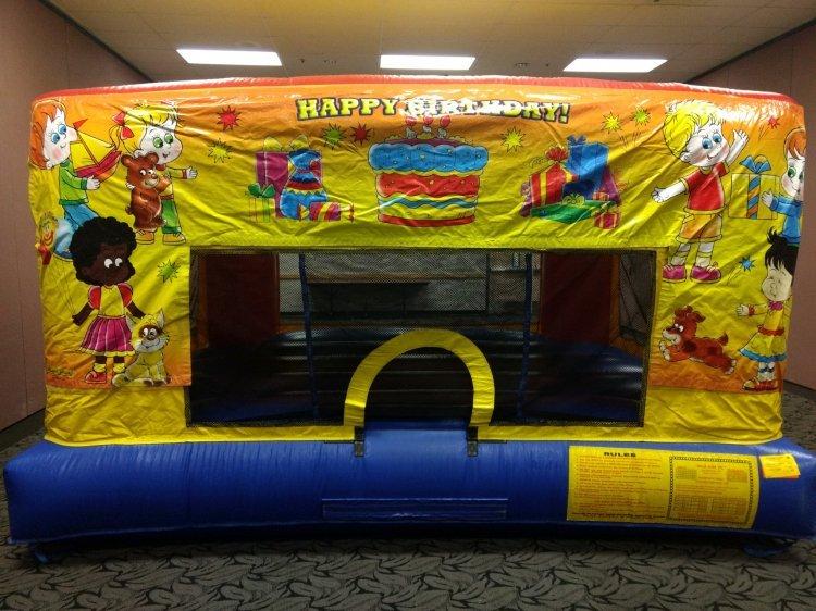 Happy Birthday Mini Bouncer Banner