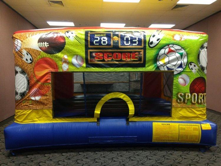 Sports Theme Mini Bouncer Banner