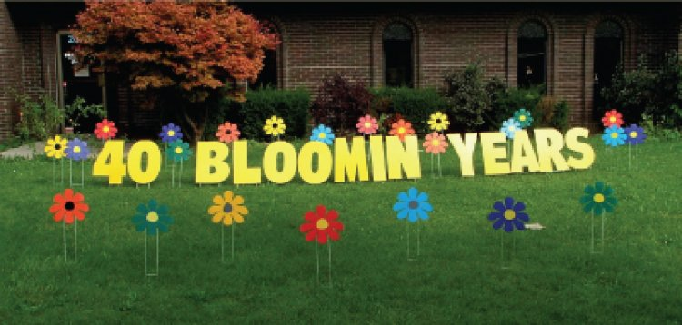 Bloomin' Years - Yard Art