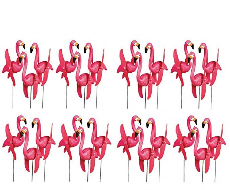 Flamingos In The Yard - Yard Art