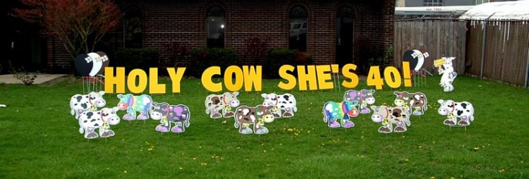 Cows Gone Wild - Yard Art