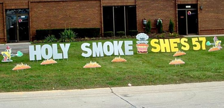 Holy Smoke .....Yard Art