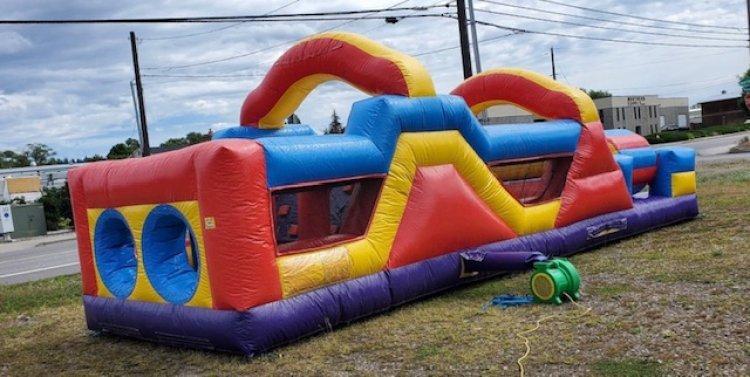 Rainbow Backyard Obstacle Course
