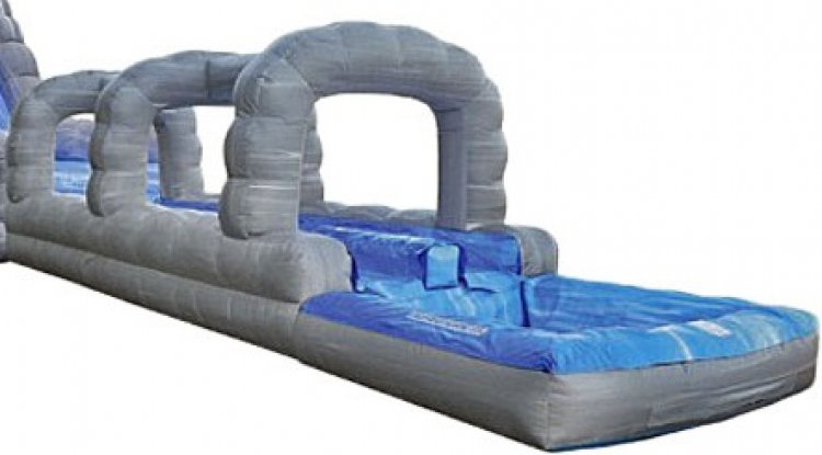Roaring River Double Lane slip and slide  with pool