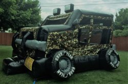 Camo Military Truck Bouncer