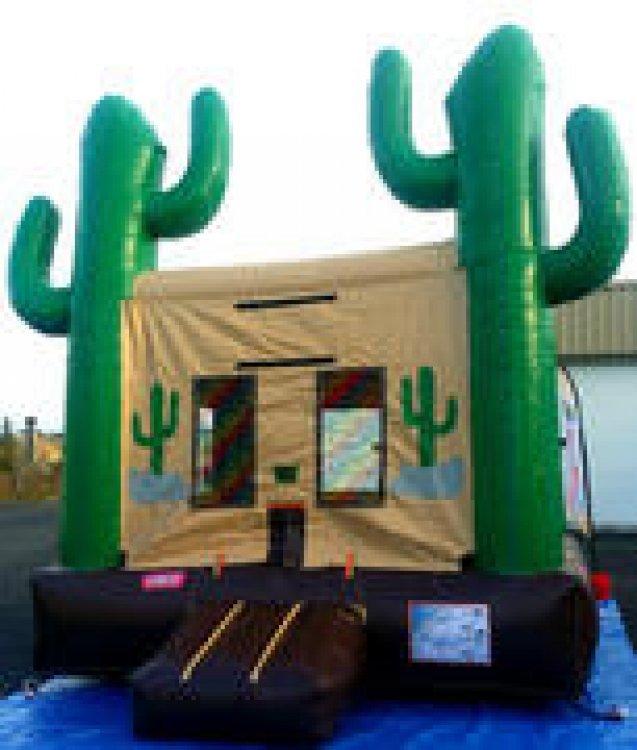 Cactus Jack Bouncer with Basketball Hoop